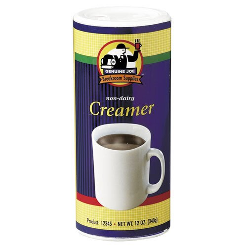 Genuine Joe Non-Dairy Creamer Canister, White, 3/CT