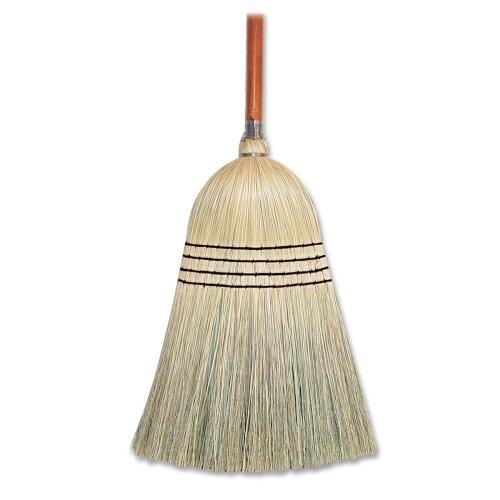 """Genuine Joe Janitor Broom, Corn Fiber, 11"""" W, 58"""" Handle, Natural"""