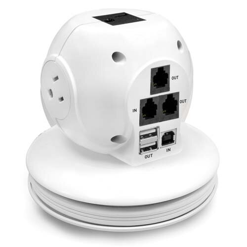 Compucessory Laptop Surge Protector, White