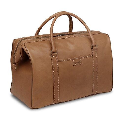 "Hartmann J Reserve 18"" Valise Leather Carry-On Duffel in Natural"