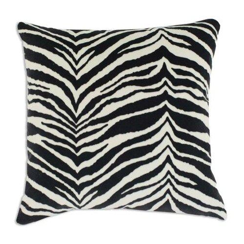 Zebra Down Fiber Pillow in Black