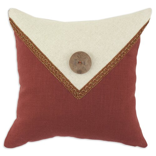 Circa Linen Lava - Linen Natural Envelope Button Pillow