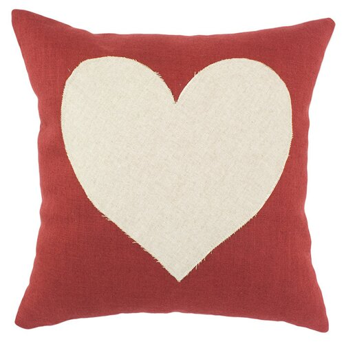 Circa Linen Lava with Linen Heart Pillow