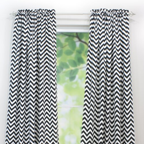 Chooty & Co Zig Zag Rod Pocket Curtain Single Panel