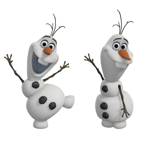 Room Mates 25 Piece Frozen Olaf The Snowman Peel and Stick Wall Decal Set