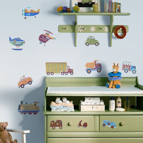 Room Mates Studio Designs 26 Piece Transportation Wall Decal Set