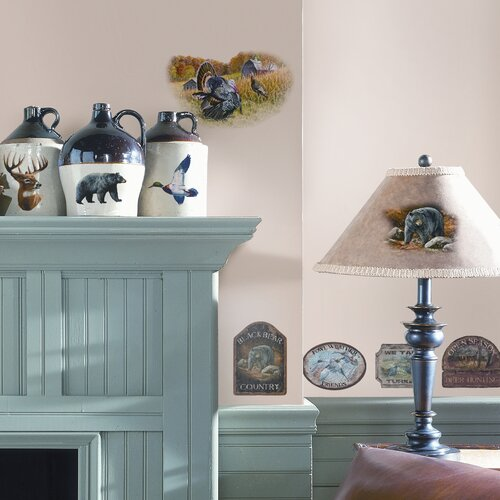 Room Mates Studio Designs 25 Piece Wildlife Medley Wall Decal Set