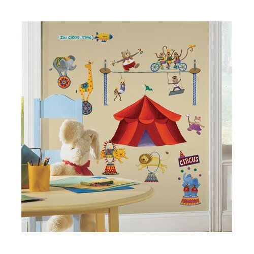 Room Mates Studio Designs 33 Piece Big Top Circus Wall Decal Set