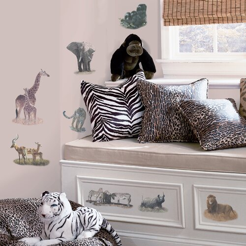 Room Mates Studio Designs 19 Piece Safari Wall Decal Set