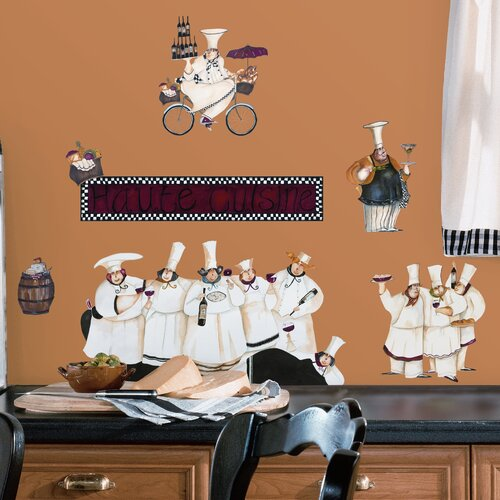 Room Mates 15 Piece Deco Chefs Wall Decal Set