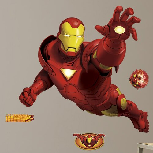 Licensed Designs 9 Piece Iron Man Giant Wall Decal Set