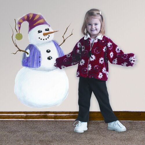 Seasonal 27 Piece Build A Snowman Wall Decal Set