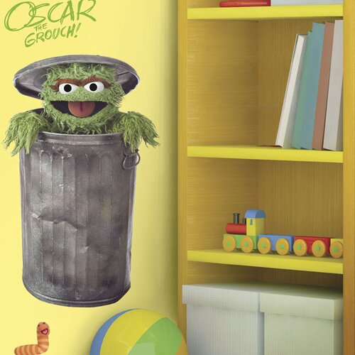 Sesame Street Licensed Designs Oscar Giant Wall Decal