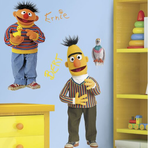Sesame Street Licensed Designs Burt and Ernie Giant Wall Decal
