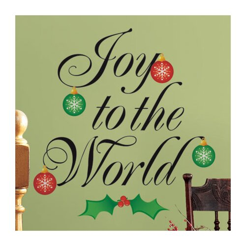Seasonal Joy to the World Wall Decal
