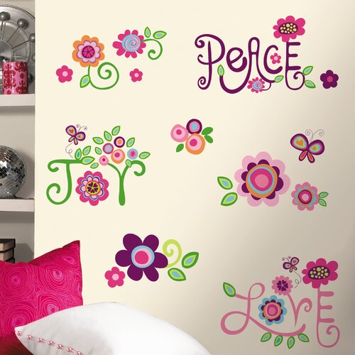 Room Mates Deco Love Joy Peace Wall Decal