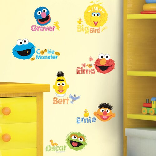 Sesame Street Scribble Wall Decal