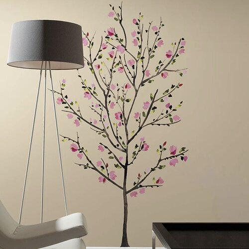 Wall Decorations Peel And Stick : Room mates piece deco blossom tree peel and stick giant