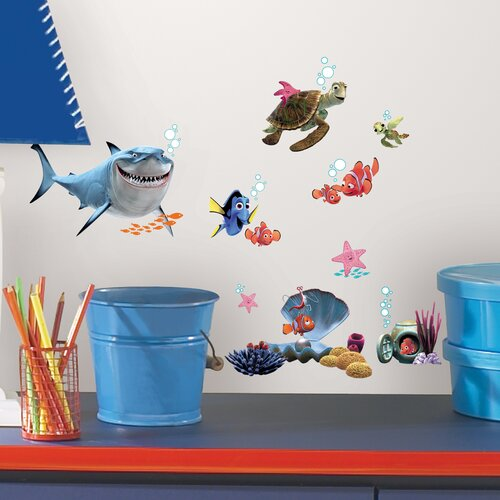 Room Mates 44 Piece Peel & Stick Wall Decals/Wall Stickers Finding Nemo Wall Decal Set