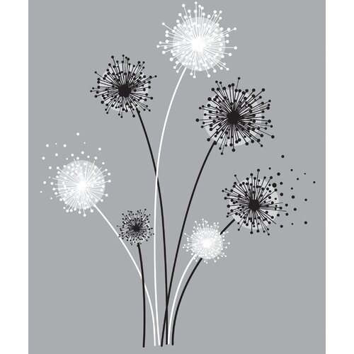 Graphic Dandelion Giant Wall Decal