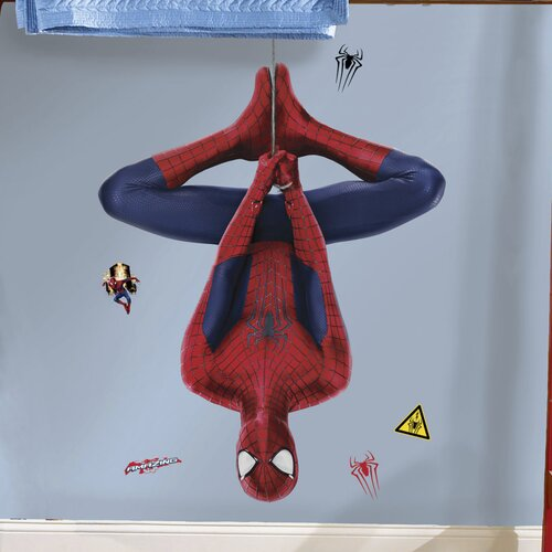 19 Piece Marvel The Amazing Spider-Man 2 Web Slinging Peel and Stick Giant Wall Decal ...