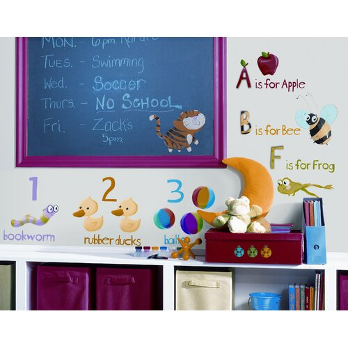 Room Mates Studio Designs 115 Piece Education Station Wall Decal Set