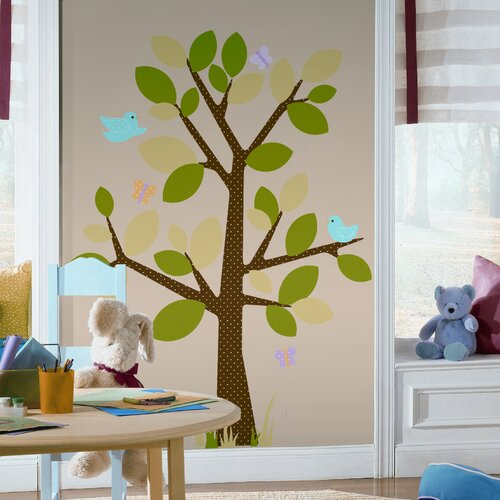Room Mates Studio Designs 48 Piece Dotted Tree Wall Decal Set