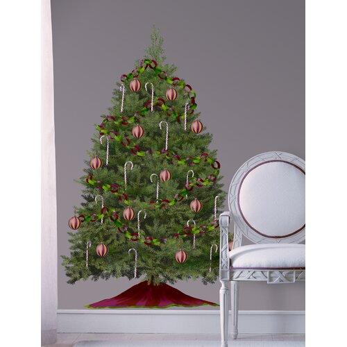 Seasonal 33 Piece Build A Christmas Tree Wall Decal Set