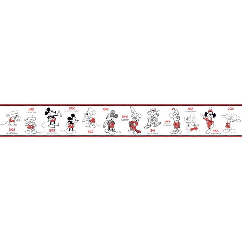 Room Mates Mickey Mouse 1928-2010 Wallpaper Border