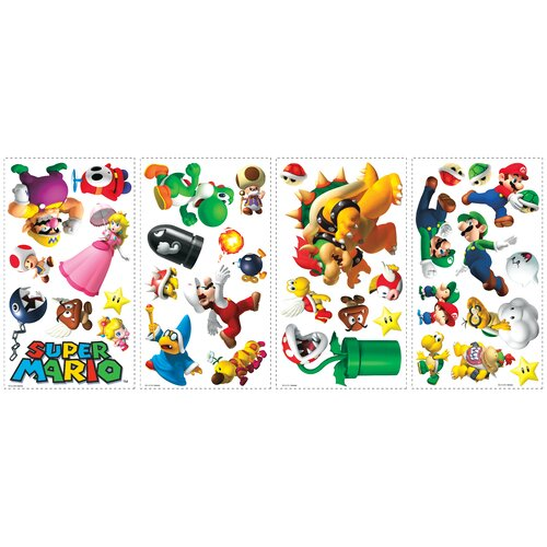 Room Mates Super Mario Wall Decal