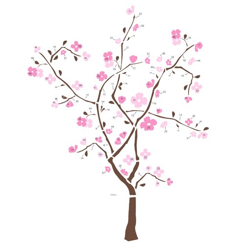 105 Piece Spring Blossom Giant Wall Decal