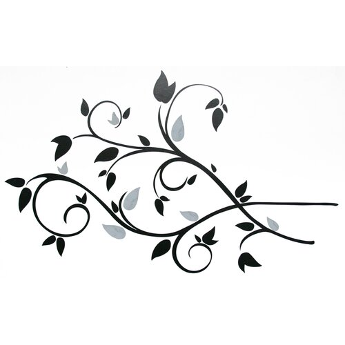 Scroll Branch Foil Leaves Wall Decal
