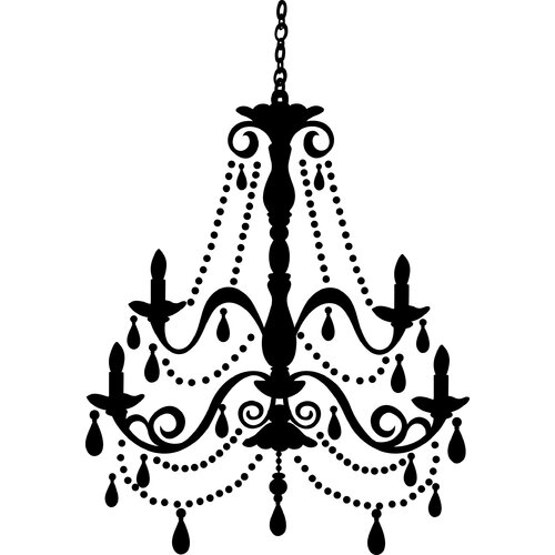 Chandelier Gems Giant Wall Decal