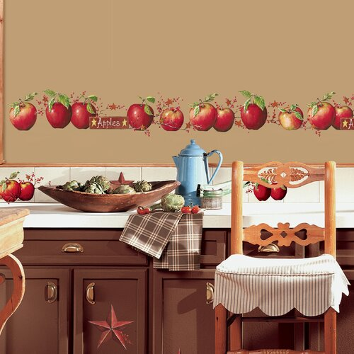 Room Mates 40 Piece Country Apples Wall Decal