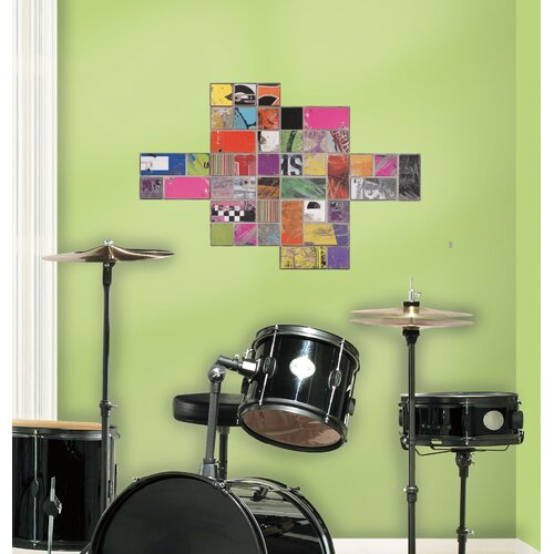 Room Mates Art of Board Square Giant Wall Decal