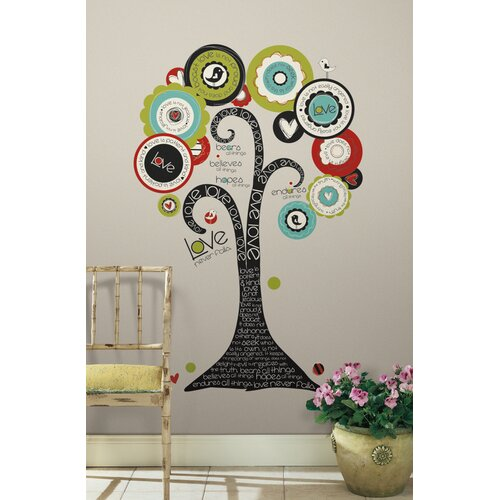 Room Mates 32 Piece Peel & Stick Giant Wall Decals/Wall Stickers Tree of Hope Wall Decal Set