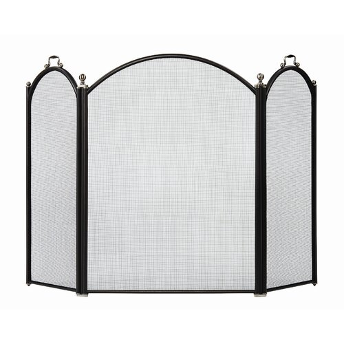 Minuteman International 3 Panel Steel Fireplace Screen