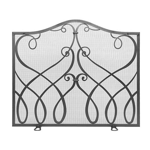 Minuteman International Cypher Wrought Iron Fireplace Screen