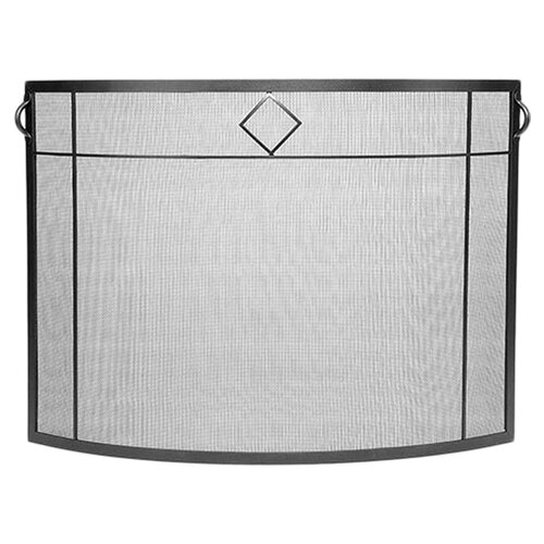 Minuteman International Diamond Curved Wrought Iron Fireplace Screen