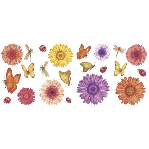Blue Mountain Wallcoverings Just for Kids Daisy Daze Wall Decal