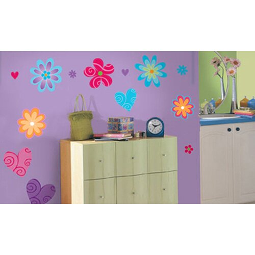 Blue Mountain Wallcoverings Snap Kids Flower Wall Decal