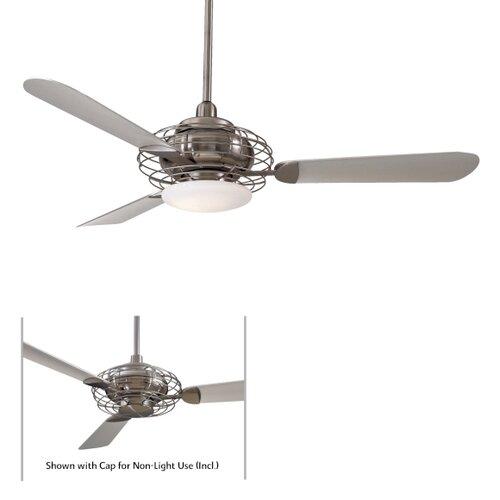 """Minka Aire 52"""" Acero Retro 3 Blade Ceiling Fan & Reviews"""