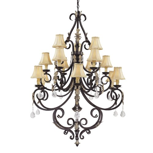 Bellasera 15 Light Chandelier in Castlewood Walnut