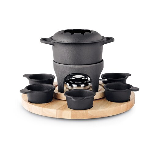 Gense Cast Iron Fondue Carousel Set