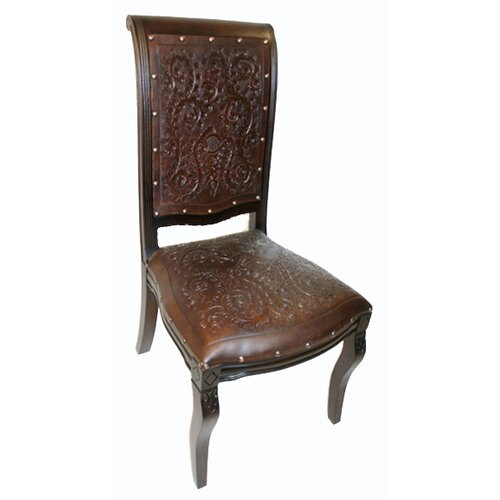 New World Trading Colonial Imperial Leather Side Chair