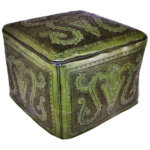 New World Trading Colonial Leather Ottoman