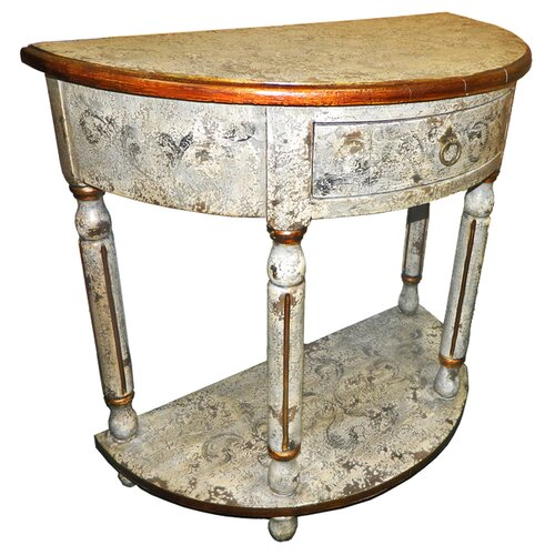 New World Trading Ricardo Painted Hardwood Console