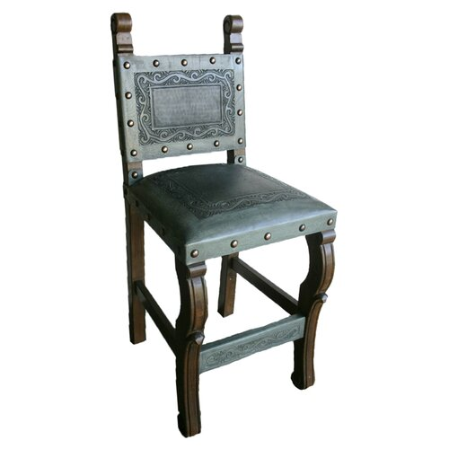 New World Trading Spanish Bar Stool with Cushion