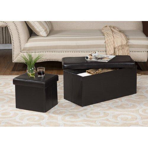 Inroom Designs Storage Bench Ottoman Amp Reviews Wayfair