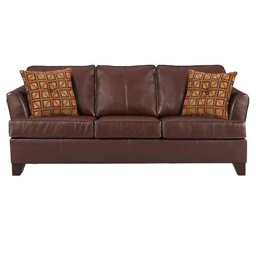 InRoom Designs Leather Sofa & Reviews